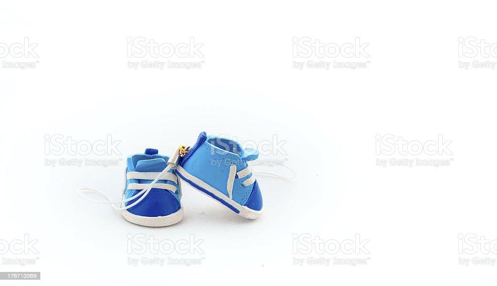 Украшения в виде Маленькая игрушка обувь стоковое фото