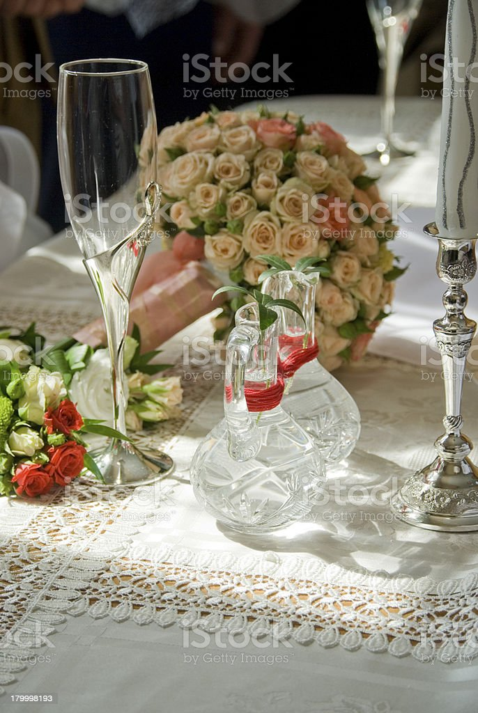 decoration of a festive table royalty-free stock photo
