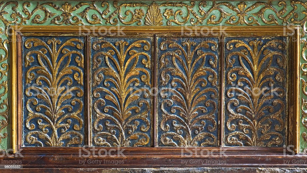 Decoration of an altar in Catholic church. royalty-free stock photo