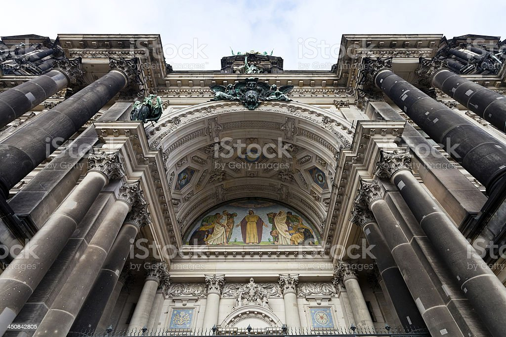 decoration of entrance in Berliner Dom stock photo