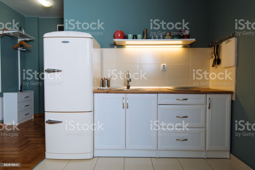 Decoration Of Kitchen In Small Apartment Stock Photo ...