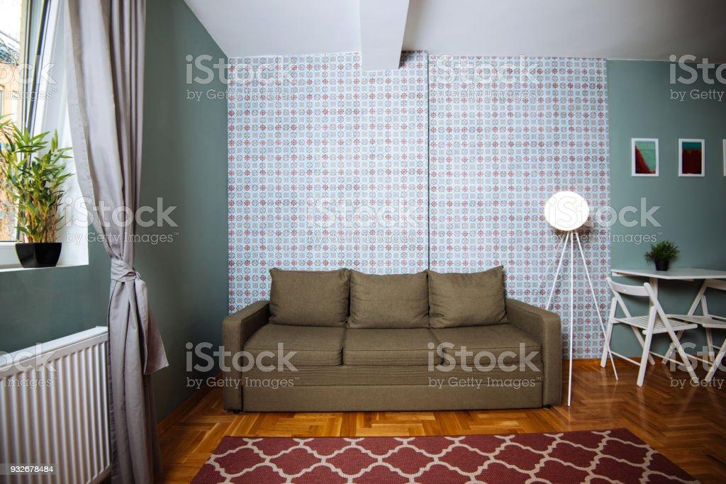 Interior of cozy small apartment