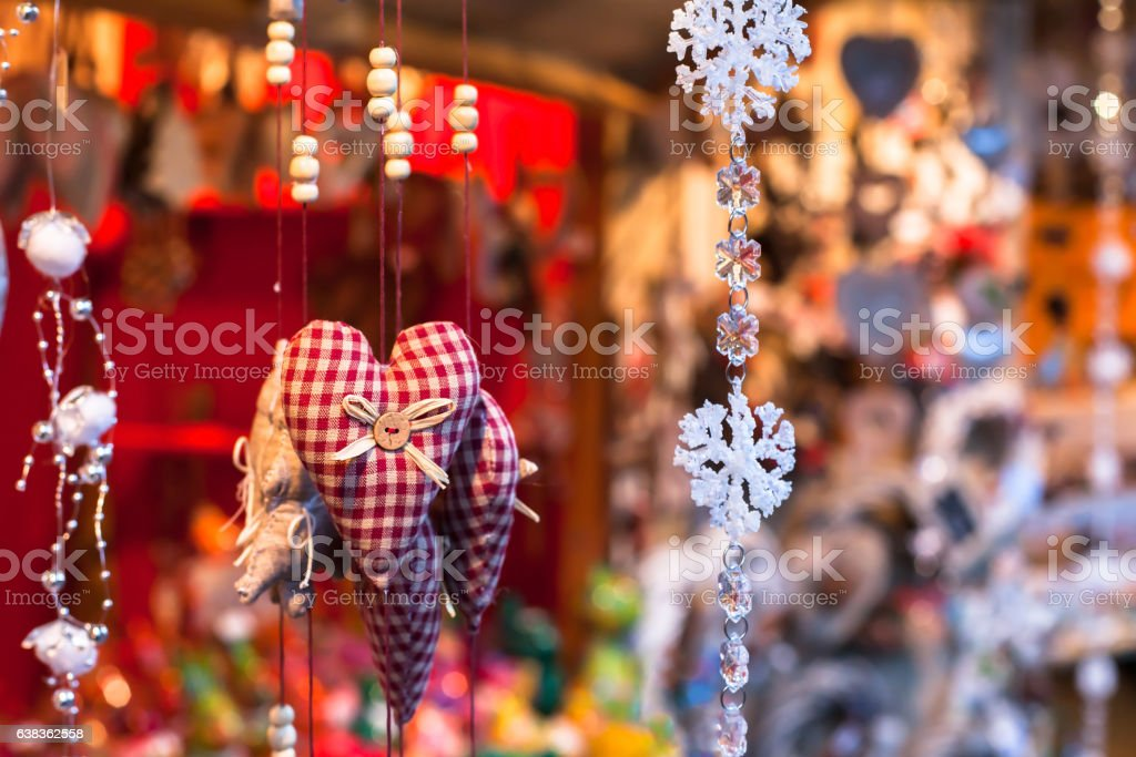 decoration on christmas market, close up - Photo