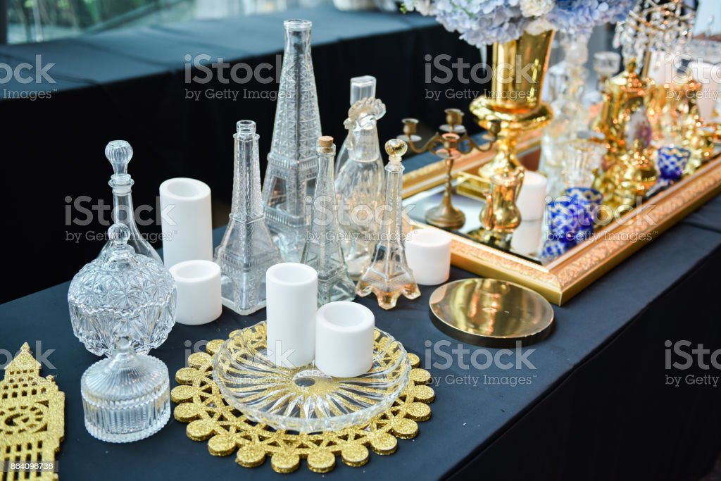 Decoration Set. prepare to decorate in Wedding Party royalty-free stock photo