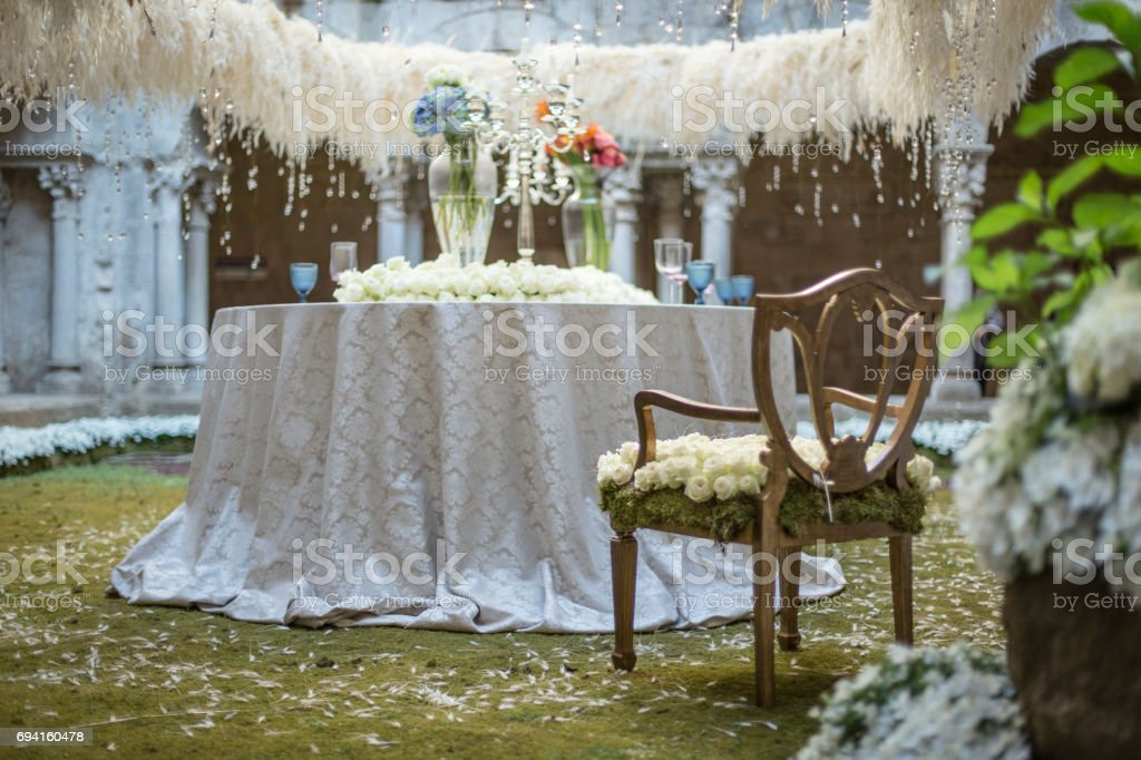 Free Wedding Stuff.Decoration Table And Chair Wedding Stuff Stock Photo More Pictures