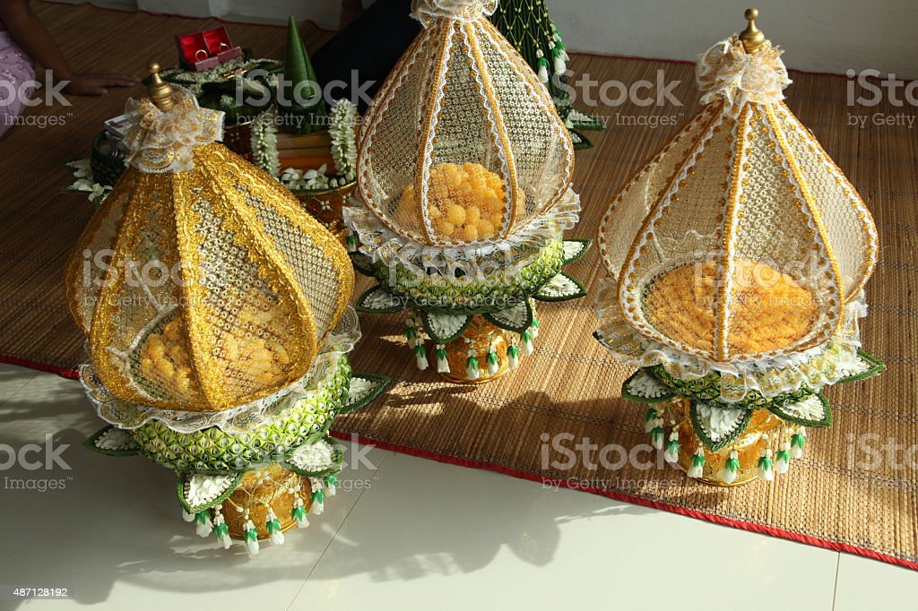 Decoration Tray Of Thai Traditional Wedding Gifts Stock Photo More