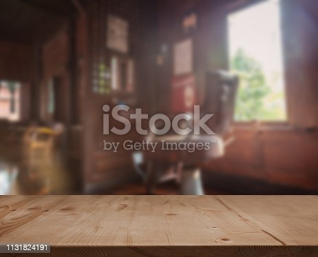 istock Decoration vintage style old barber shop in Thailand 1131824191