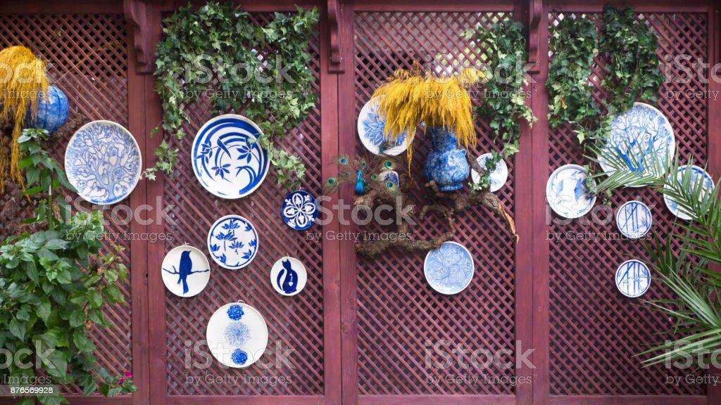 Decoración Con Pérgola De Madera Con Flores Foto De Stock Y