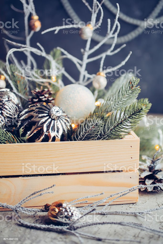 Decorations for Christmas and New Year photo libre de droits
