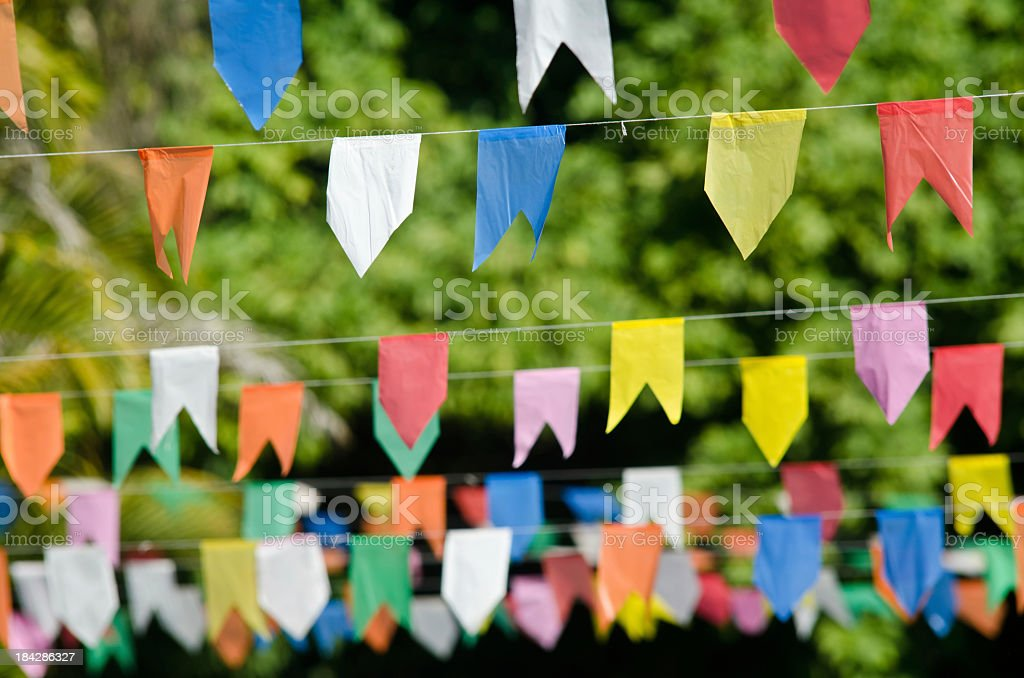 Decorations for de Festa Junina stock photo