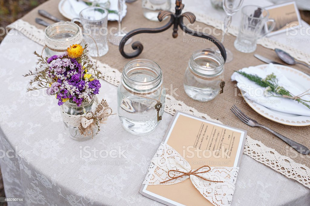 Decorations for the wedding ceremony. stock photo