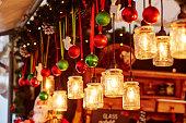 istock Decorations on a Parisian Christmas market 529368697