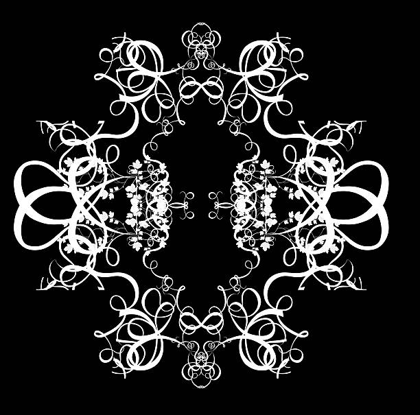 motif décoratif abstrait numérique-circulaire de fond - motif ornemental photos et images de collection