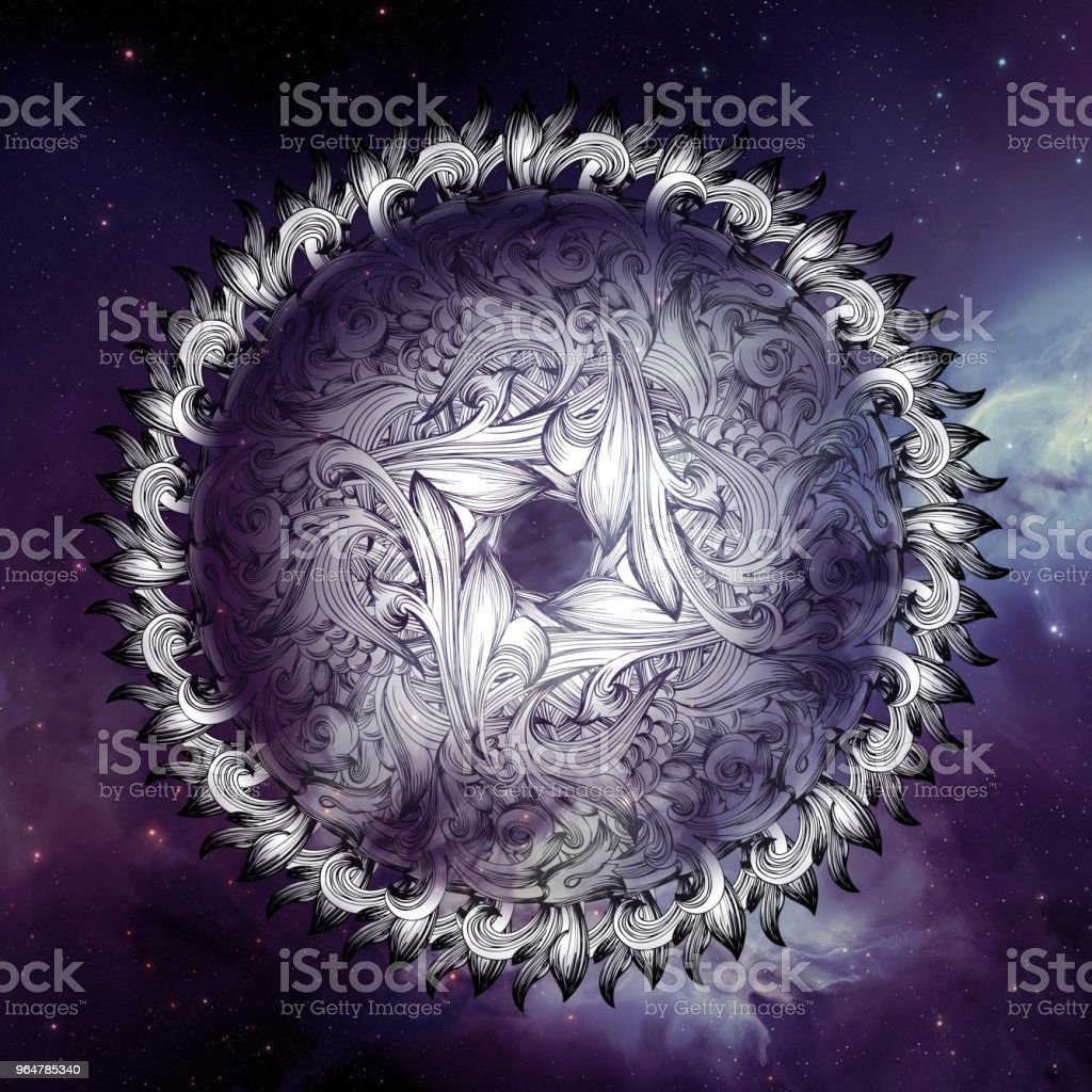 Decorative Abstract Kaleydoskopic Circular Mandala Image IX royalty-free stock photo