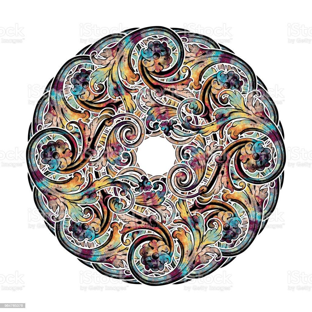Decorative Abstract Kaleydoskopic Circular Mandala Image XIII royalty-free stock photo