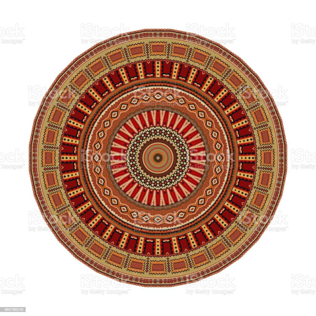 Decorative Abstract Kaleydoskopic Circular Mandala Rug Image I royalty-free stock photo
