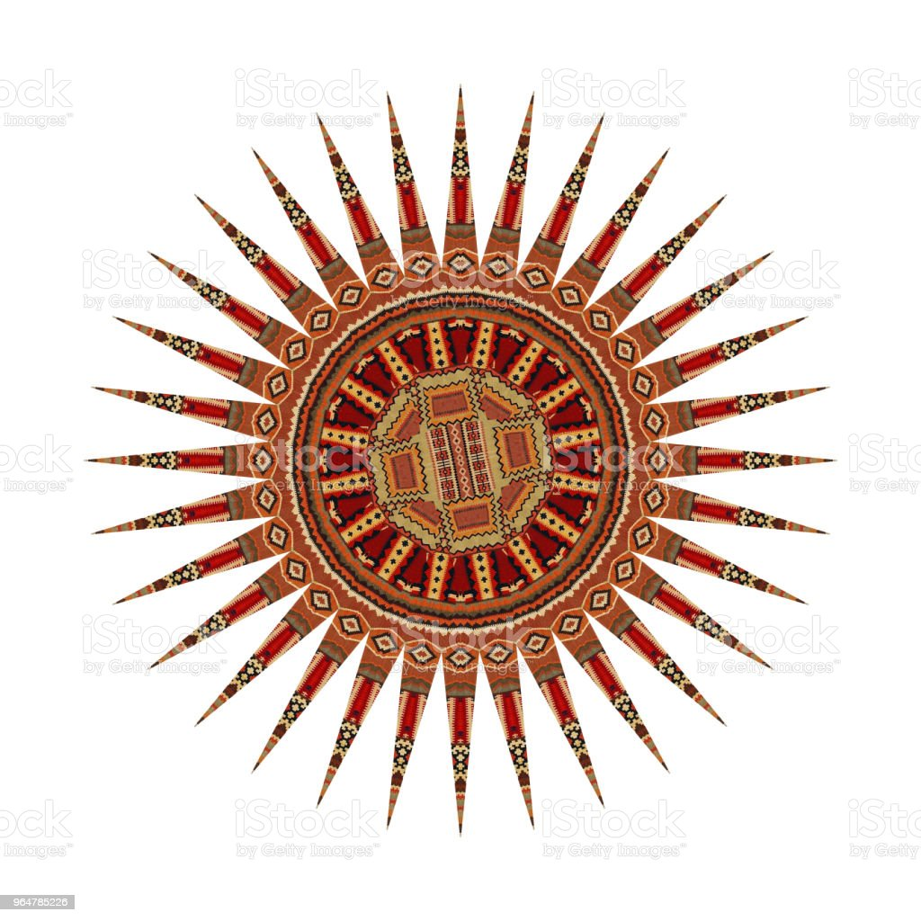 Decorative Abstract Kaleydoskopic Circular Mandala Rug Image II royalty-free stock photo