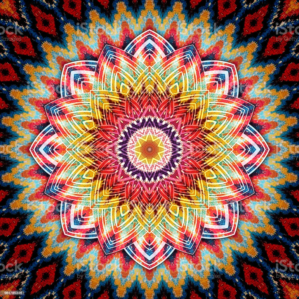 Decorative Abstract Kaleydoskopic Circular Mandala Ruh Image VIII royalty-free stock photo