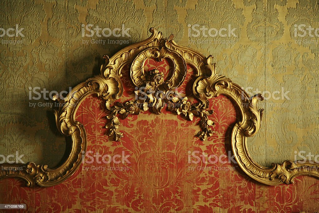 Decorative Antique Bedboard stock photo