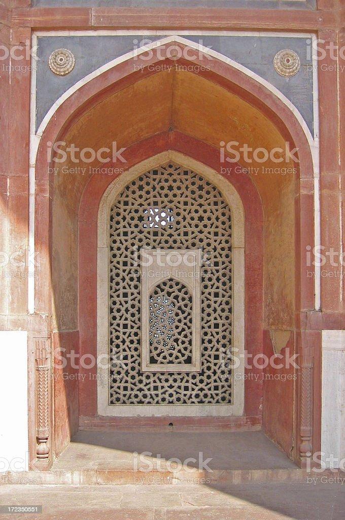 Decorative Arch Window, India royalty-free stock photo