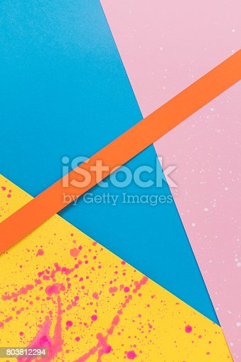 istock decorative art of colored paper pieces. 803812294