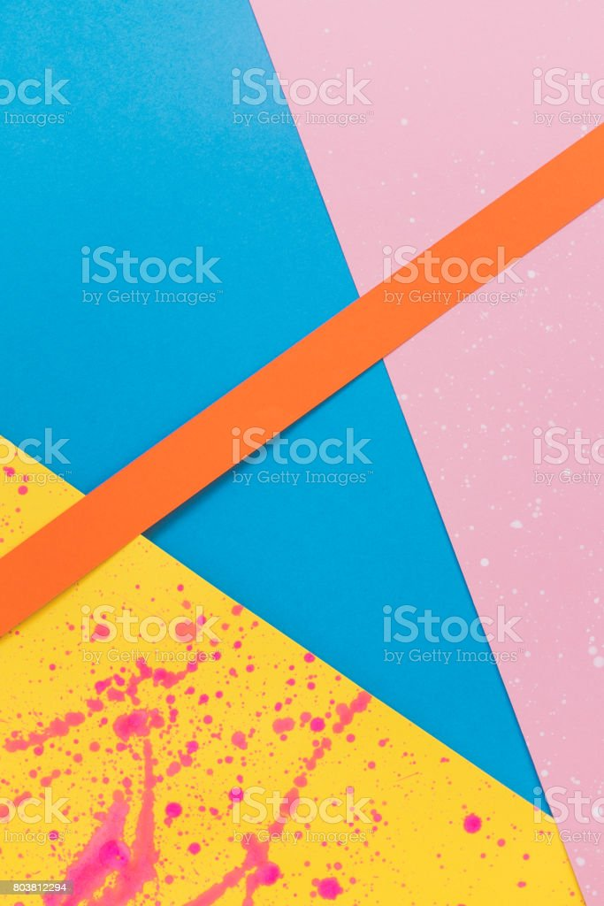 decorative art of colored paper pieces. stock photo