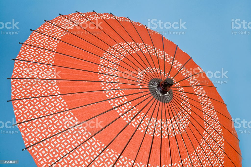 Decorative Asian Umbrella stock photo