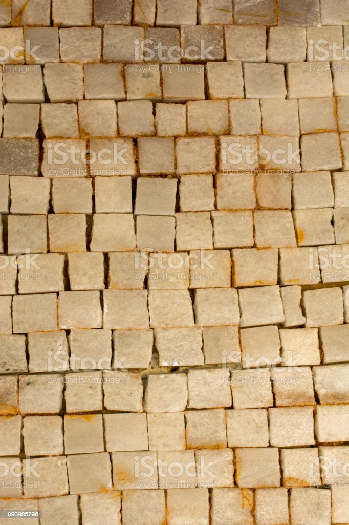 Decorative background built of little stones stock photo