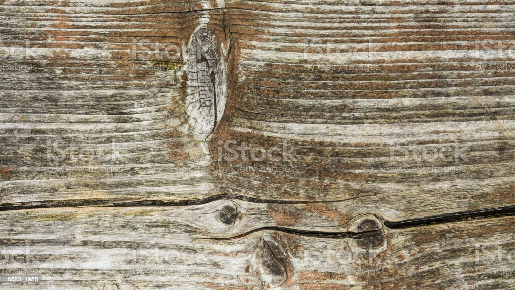 Decorative background from old weathered wood stock photo