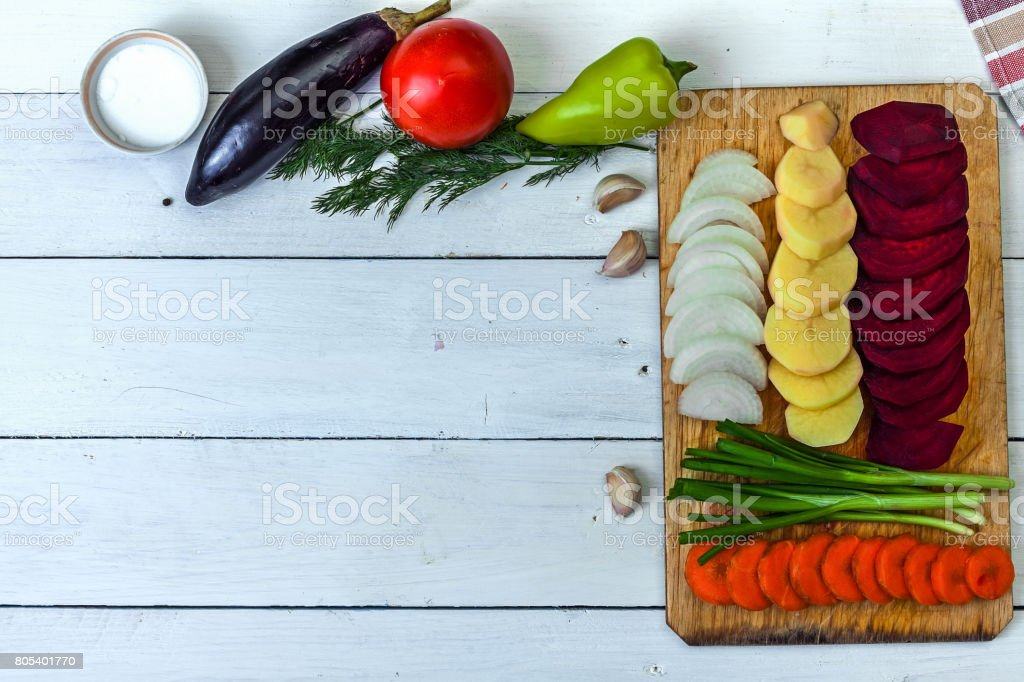 Decorative background of kitchen themes stock photo