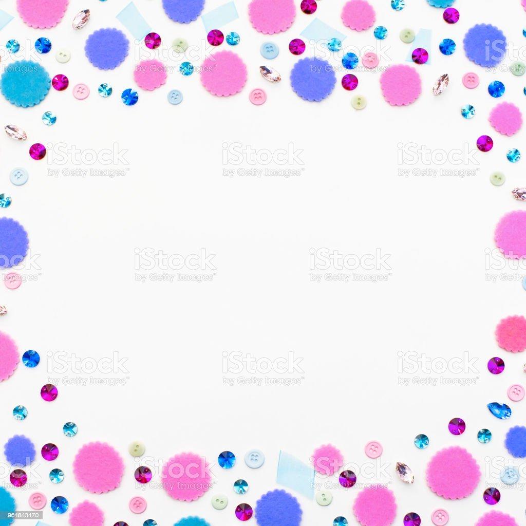Decorative background with Bright festive confetti. royalty-free stock photo