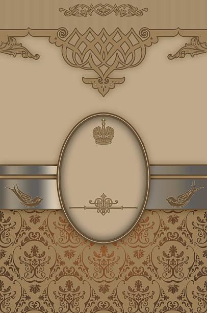 dekorative hintergrund mit eleganten grenze und mustern. - chrome menü stock-fotos und bilder
