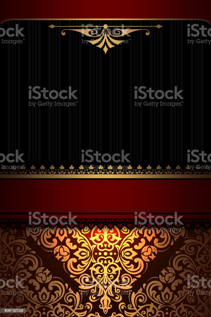 royalty free black and gold vintage invitation background