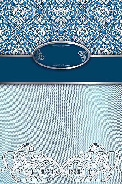 decorative background with elegant patterns and border. - chrome menü stock-fotos und bilder