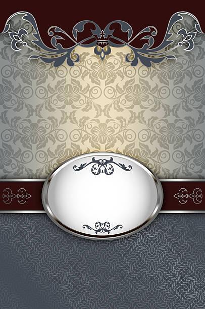 decorative background with floral patterns and borders. - chrome menü stock-fotos und bilder