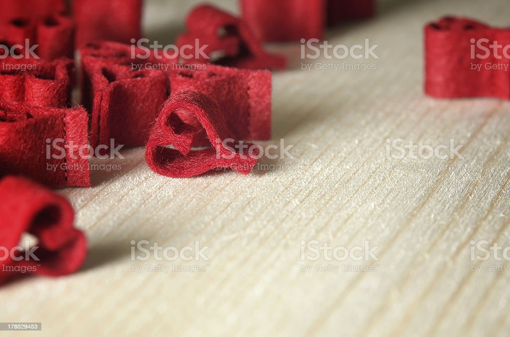 Decorative background with red hearts royalty-free stock photo