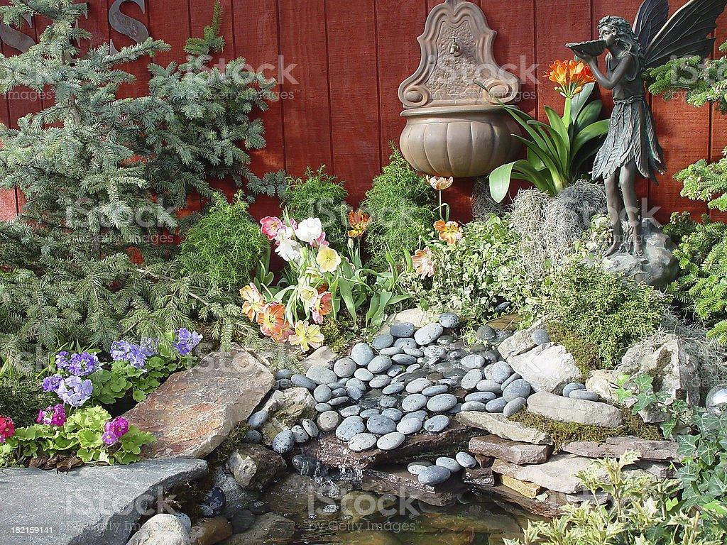 Decorative Backyard Pond royalty-free stock photo