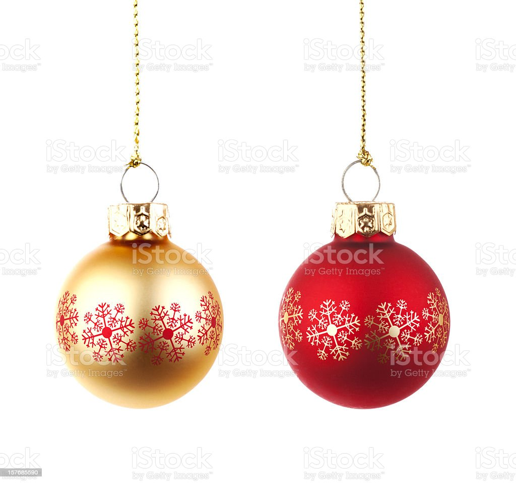 Decorative baubles royalty-free stock photo