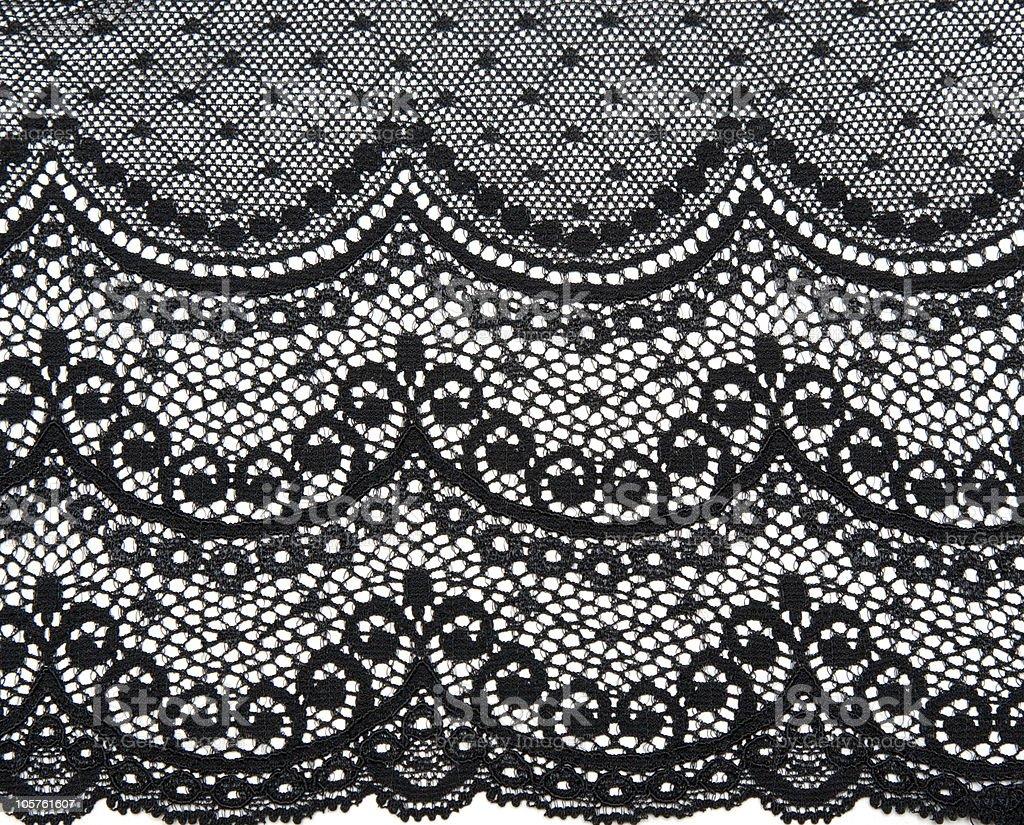 Decorative black lace royalty-free stock photo