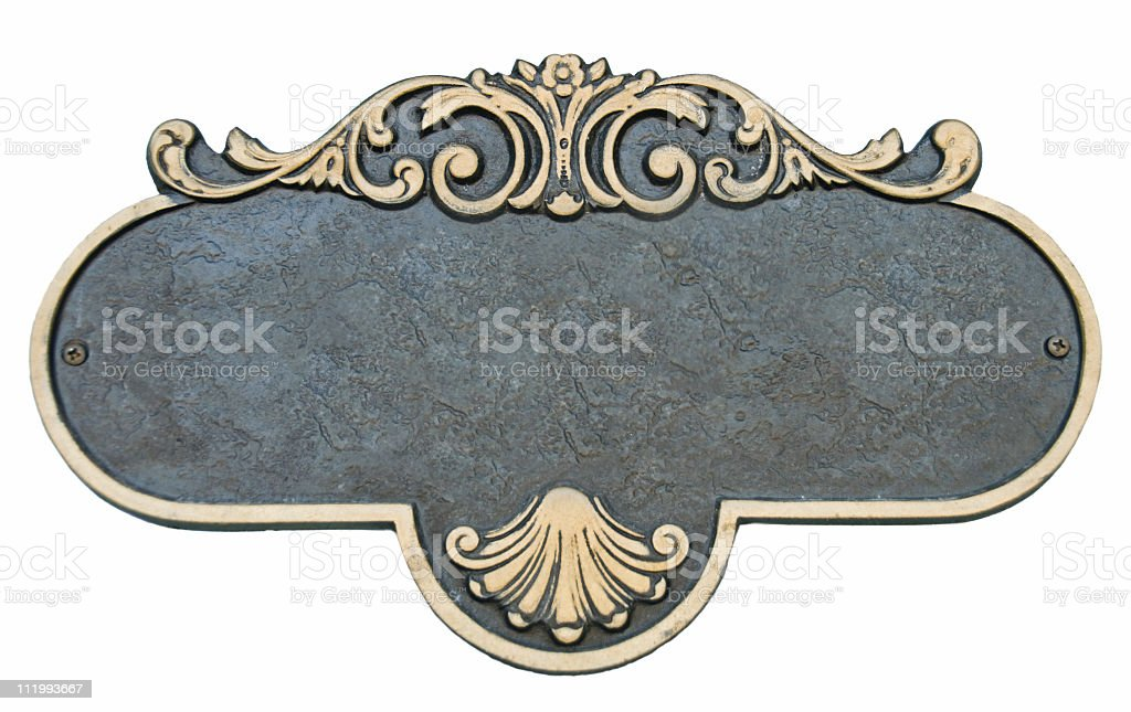 Decorative Blank Sign (Plaque) stock photo