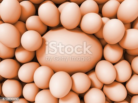 istock decorative brown eggs in two sizes (3d illustration) 870600030