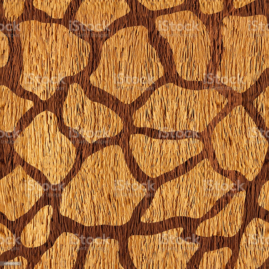 Decorative camouflage pattern - seamless background - wood surface stock photo