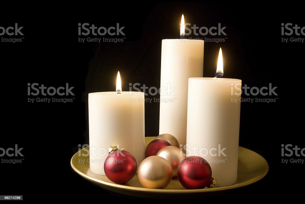Decorative Candle Display royalty-free stock photo