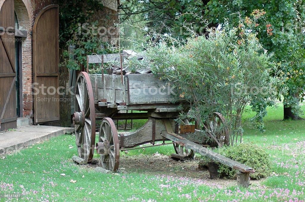 Decorativo carrello foto stock royalty-free