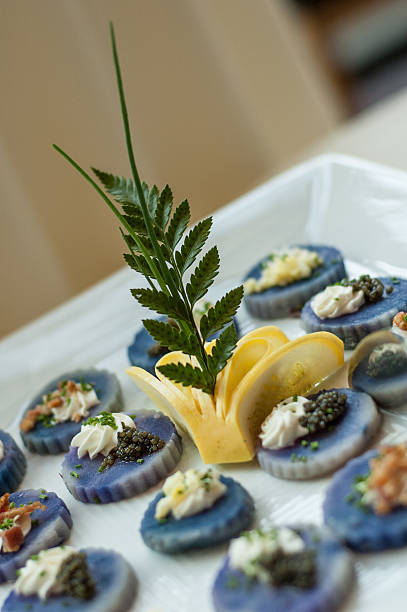 Decorative Caviar Dish stock photo