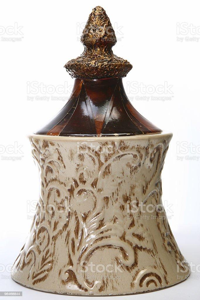 Decorative Ceramic Jar royalty-free stock photo