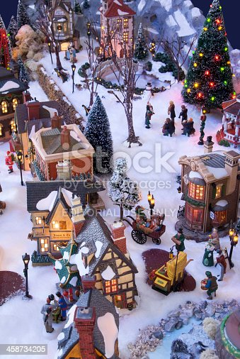 Decorative Christmas Village With Charles Dickens Theme ...