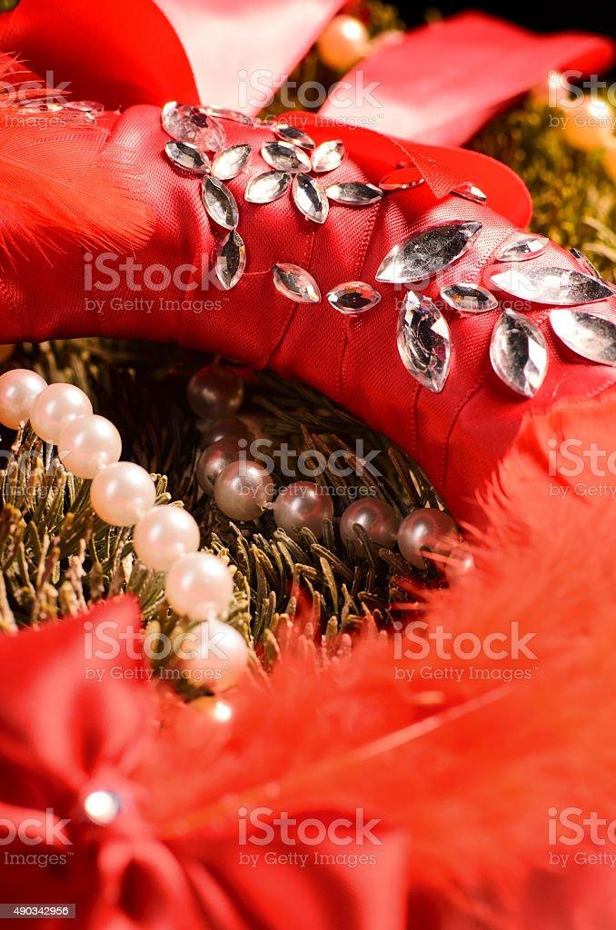 decorative christmas wreath stock photo