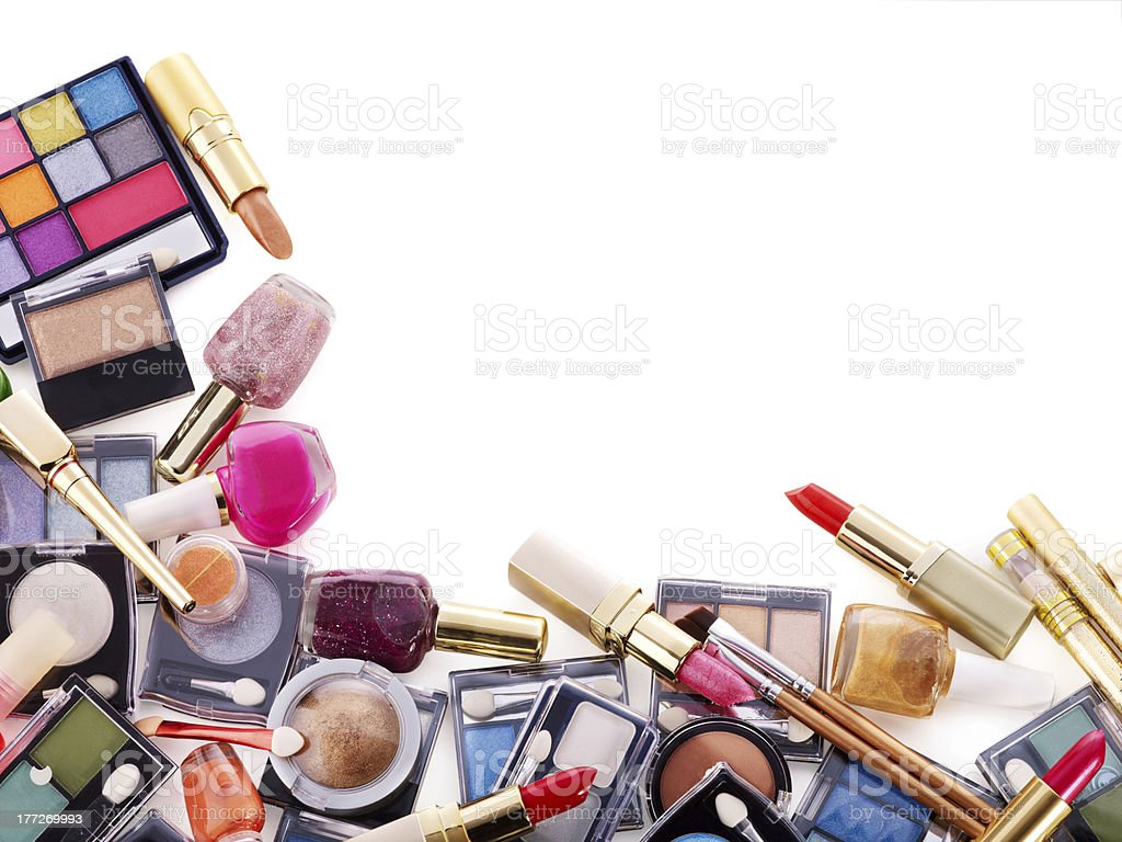Decorative cosmetics for makeup. royalty-free stock photo