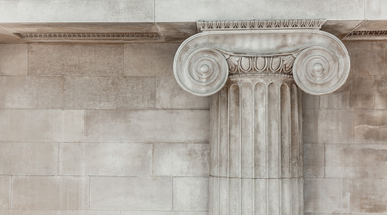 istock Decorative detail of an ancient Ionic column 953909568